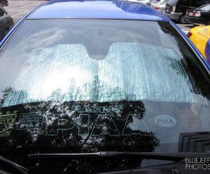 Honda Fit – 車用遮陽板要買夠高的才行